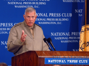 General James T. Conway, the U.S. Marine Corps Commandant, at a June 11 National Press Club luncheon.Photo: Gregory Tinius