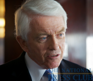 Thomas J. Donohue, President and CEO US Chamber of Commerce, and speaker for the National Press Club Luncheon, Friday 14 May, 2010.Photo: Michael Foley
