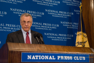 Morris Dees, founder and chief trial counsel of the Southern Poverty Law Center, addresses the National Press Club.Photo: Noel St. John