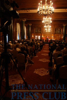 The NPC used The Willard Room at the Willard Intercontinental Washington to welcome guests, reporters and club members for the Elizabeth Edwards event on May 21, 2009.Photo: Kyle McKinnon