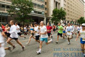 NPC 5K runners race down F Street.Photo: Noel St. John
