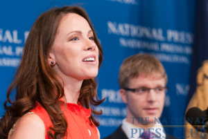 Barbara Bush discusses her non-profit group, Global Health Corps, at a May 26 National Press Club Luncheon. Ms. Bush explained how her parents were instrumental in influencing her to work...