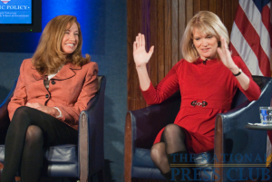 ABC News senior foreign affairs correspondent, Martha Raddatz, injects humor into an otherwise serious discussion of her experiences reporting from Iraq during a March 8 Kalb Report at the National...