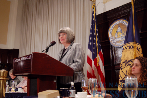 Washington can rival New York as a theater city, Joy Zinoman tells NPC luncheon audience.Photo: Terry Hill
