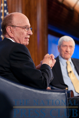 News Corp. Chairman and CEO Rupert Murdoch joins Marvin Kalb at the National Press Club for the Kalb Report, Apr. 6, 2010.Photo: Noel St. John