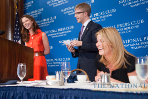 NPC President Alan Bjerga asked Barbara Bush if she and her sister, Jenna (seated) if they had been allowed to vet their parents memoirs before publication. At the may 26...