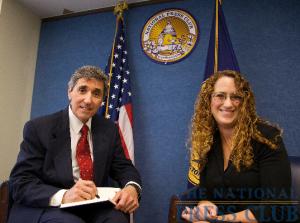 Dr. Cortese with NPC President Donna Leinwand.Photo: Michael Foley