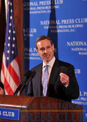 IRS Commissioner Douglas Shulman addresses the Press Club Luncheon.Photo: Greg Tinius