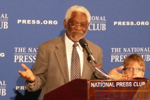 Haitian Ambassador to the U.S. Raymond Joseph gives his assessment of the recovery efforts in Haiti and the outlook for the country's future at a Feb. 11 Speakers Press Conference.Photo:...