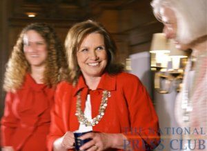 NPC president Donna Leinwand shared a laugh with Elizabeth Edwards and the club's Bea Snyder as Ms. Edwards moved toward the book signing part of the evening.Photo: Kyle McKinnon