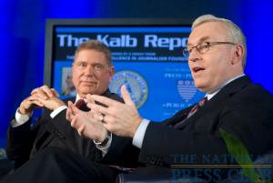 CNN President Jon Klein (R) and Knight Foundation President Alberto Ibarguen.Photo: Noel St. John