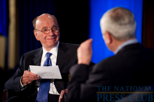 News Corp. Chairman and CEO Rupert Murdoch joins Marvin Kalb at the National Press Club for the Kalb Report, Apr. 6, 2010.Photo: Sam Hurd