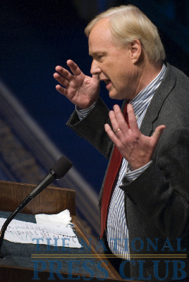 Hardball's Chris Matthews speaks at The National Press Club about his book, Hardball Life.Photo: Noel St. John