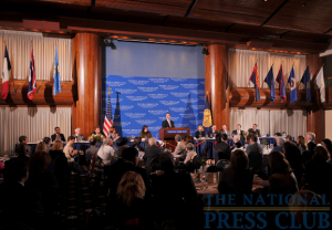 Scheduled two days before tax deadline day, the NPC luncheon featuring IRS Commissioner Douglas Shulman was heavily attended - by members and guests, and the news media.Photo: Greg Tinius