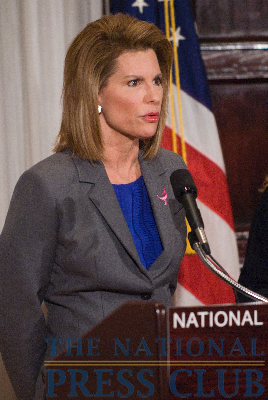 Ambassador Nancy G. Brinker, founding chair of the Susan G. Komen for the Cure, addresses the controversy over new federal breast cancer screening recommendations during a newsmaker event at the...