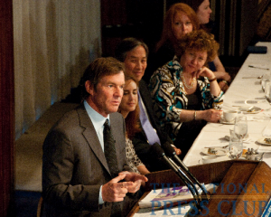 Actor and activist Dennis Quaid speaks on the subject of medical errors at a National Press Club luncheon.Photo: Al Teich