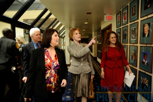 Melissa Charbonneau, Mary Tyler Moore and club president Donna Leinwand at a May 28 National Press Club Luncheon event.Photo: Christy Bowe