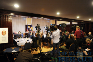 The sold-out luncheon was held in the Holeman Lounge amid plenty of press coverage.Photo: Greg Tinius