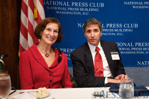 Doris Margolis, NPC member and luncheon organizer with Dr. Cortese.Photo: Michael Foley