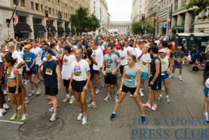 Runners anticipate the start of the 12th Annual NPC 5K Race.Photo: Noel St. John