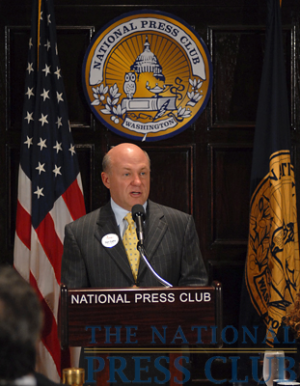 Chick-fil-A President/CEO Dan Cathy address a National Press Club Speakers Series luncheon.Photo: Gregory Tinius