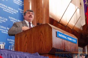 Newly-elected AFL-CIO President Richard Trumka outlines major legislative initiatives for the organization.Photo: Terry Hill