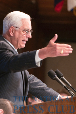 Dr. Edward Miller, Dean and CEO of Johns Hopkins Medicine discusses the new health care law at a June 21, 2010 National Press Club Luncheon. Dr. Miller described that despite...