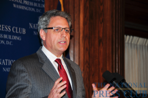 Gary Knell, President and CEO of Sesame Workshop, speaks at National Press Club luncheon, December 8, 2009.Photo: Al Teich