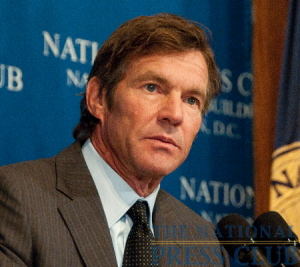 Film actor Dennis Quaid speaks to a National Press Club luncheon.Photo: Al Teich