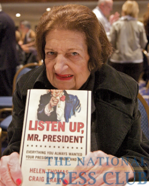 Helen Thomas at the Book Fair and Authors night, National Press Club.Photo: Michael Foley