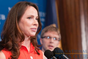 Barbara Bush discusses her non-profit group, Global Health Corps, at a May 26 National Press Club Luncheon. When asked by NPC president, Alan Bjerga about her relationship with the Secret...