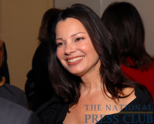 Actress Fran Drescher at an April 14 Press Club luncheon.Photo: Gregory Tinius/Tinius-Arts