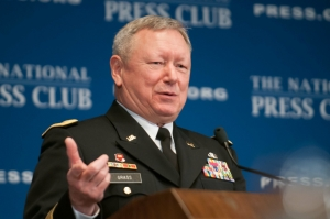 General Frank Grass, Chief, National Guard Bureau, speaks at The National Press Club Jan. 9, 2014.
