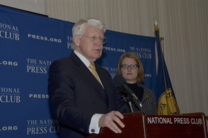 Iceland President H.E. Ólafur Grímsson announces newly formed Arctic Circle Organization, which unlike the existing Arctic Council, will give voice to a wide variety of experts on global warming and related issue at a National Press Club Luncheon on April 15, 2013.