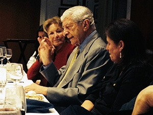 "Former broadcast diplomatic correspondent Marvin Kalb talks Ukraine policy at Club's first ""Legends of Broadcasting"" dinner Tuesday, Sept. 16, 2014."