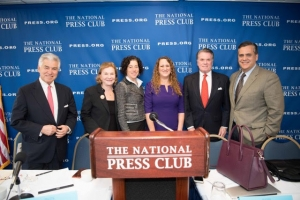 "Panelists for the National Press Club Newsmaker, ""Presidential Jeopardy: Impeachment, Indictment and the 25th Amendment"" included Richard Ben-Veniste, Susan Low Bloch, Jennifer Daskal, Moderator Donna Leinwand Leger, Jack Quinn and Jonathan Turley."