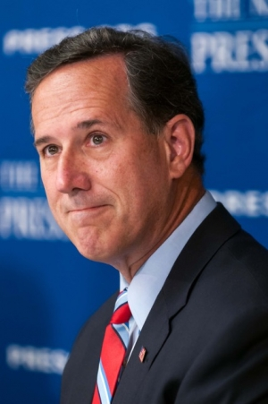 GOP presidential candidate Rick Santorum during his Speakers news conference at National Press Club Aug. 20