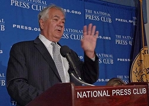 Rep. Barney Frank, D-Mass., discusses financial reform at the National Press Club newsmaker. Washington, D.C., July 11, 2011.