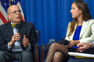 Journalist Thomas Kapsidelis and Kristina Anderson, whose lives intersected at the Virginia Tech mass shooting 12 years ago, discuss the massacre at a National Press Club Headliners Book Event April 4.