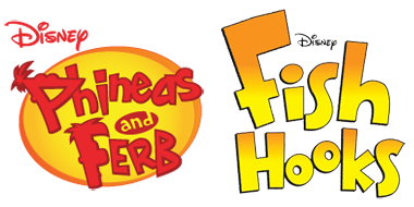 Phineas and Ferb and Fish Hooks Logos