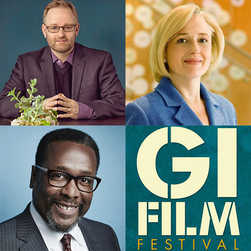 Wendell Pierce, Paula Kerger, Brandon Millett - GI Film Festival